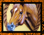 Airbrushed banner for riding club