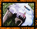 White wolf airbrushed on helmet