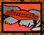 Harley Davidson broken wings on golf cart